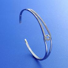 Simple Elegant Stone Bangle