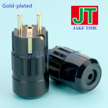 24K Gold-plated Audio Grade Power Cord Cable Schuko Plug