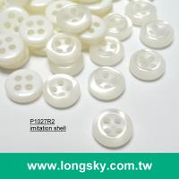 (#P1027R2) 18L 14L Round Imitation Shell Resin Button For Uniform