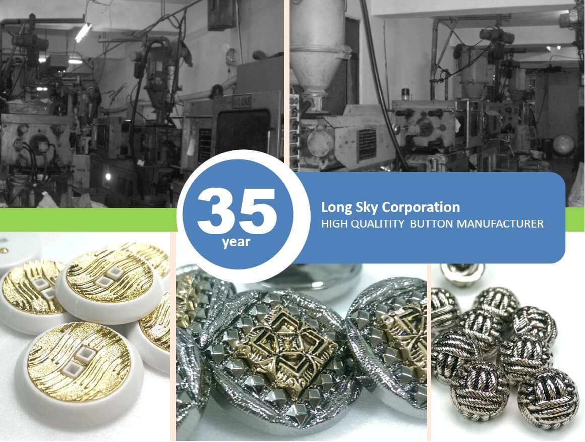 Long sky-nylon button and abs button production line-35years