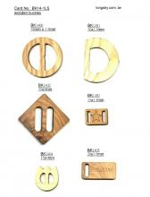 Wooden buckles for garments (#BK14-1)