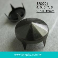 (#SR0201) 4 prong brass decorative studs for leather garements