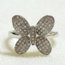 Pave CZ Butterfly Ring