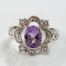 Genuine Amethyst Fashion Ring