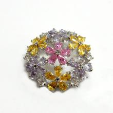Multicolor Flower Fashion Jewelry Brooch